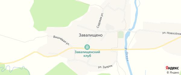 Карта села Завалищено в Белгородской области с улицами и номерами домов