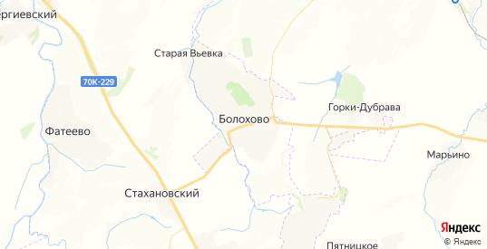 Карта Болохово с улицами и домами подробная. Показать со спутника номера домов онлайн
