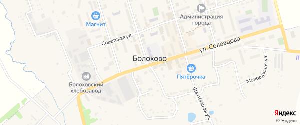 Полевая улица на карте Болохово с номерами домов