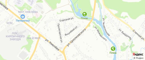 Вишневая улица на карте Старого Оскола с номерами домов