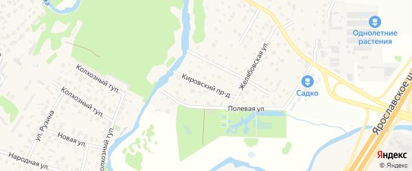 Кировский проезд на карте Первомайского микрорайона с номерами домов