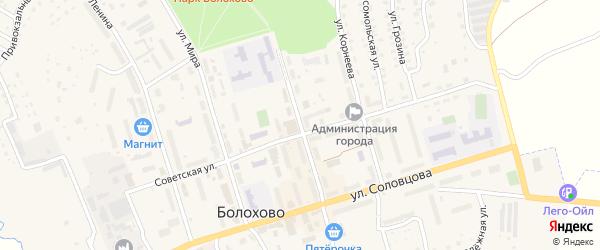 Первомайская улица на карте Болохово с номерами домов