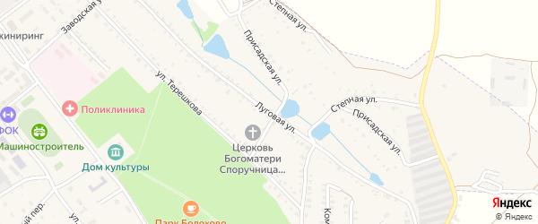 Луговая улица на карте Болохово с номерами домов