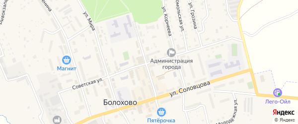Советская улица на карте Болохово с номерами домов