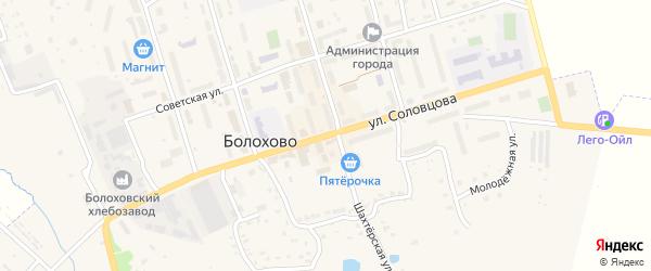 Улица Соловцова на карте Болохово с номерами домов