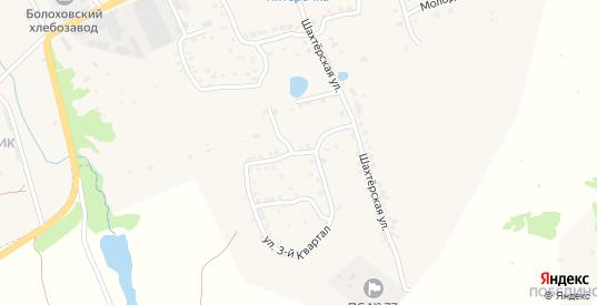 Улица 3-й Квартал в Болохово с номерами домов на карте. Спутник и схема онлайн