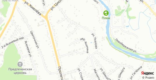 Переулок Акинина в Старом Осколе с номерами домов на карте. Спутник и схема онлайн