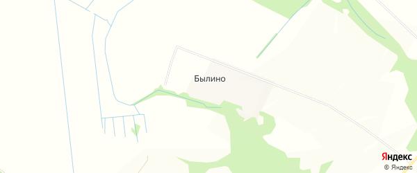 Карта деревни Былино в Московской области с улицами и номерами домов