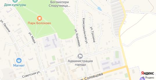 Улица Корнеева в Болохово с номерами домов на карте. Спутник и схема онлайн