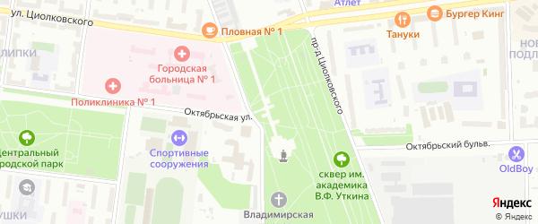Площадь Победы на карте Королёва с номерами домов