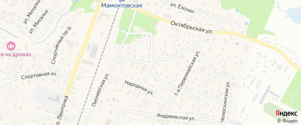 Комсомольский проезд на карте микрорайона Мамонтовки с номерами домов
