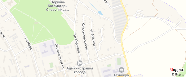 Улица Грозина на карте Болохово с номерами домов