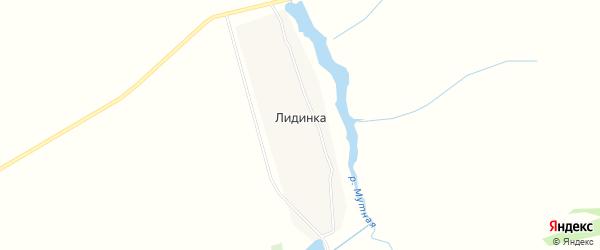 Карта деревни Лидинки в Тульской области с улицами и номерами домов