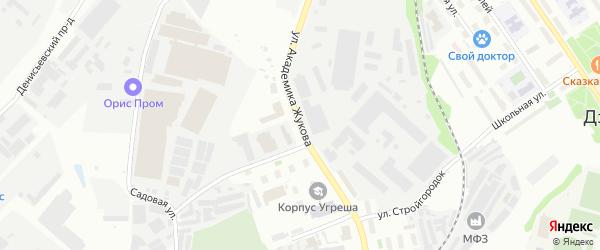 Улица Академика Жукова на карте Дзержинского с номерами домов