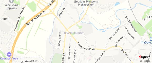 Карта микрорайона Текстильщика города Королёва в Московской области с улицами и номерами домов