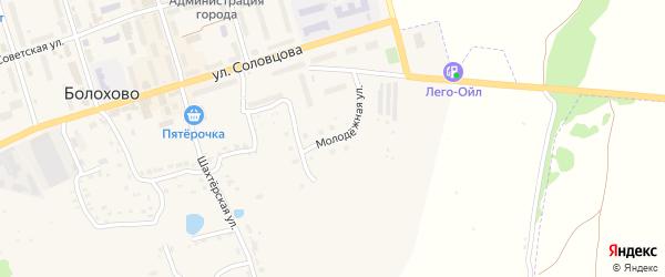 Молодежная улица на карте Болохово с номерами домов