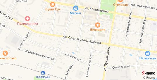 Улица Крылова в Калязине с номерами домов на карте. Спутник и схема онлайн