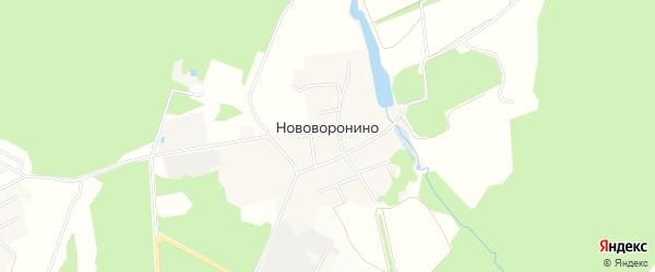 Карта деревни Нововоронино города Пушкино в Московской области с улицами и номерами домов
