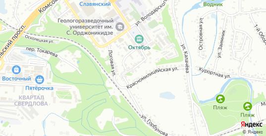 Пионерская улица в Старом Осколе с номерами домов на карте. Спутник и схема онлайн