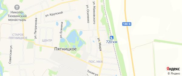 Карта поселка Пятницкого в Белгородской области с улицами и номерами домов