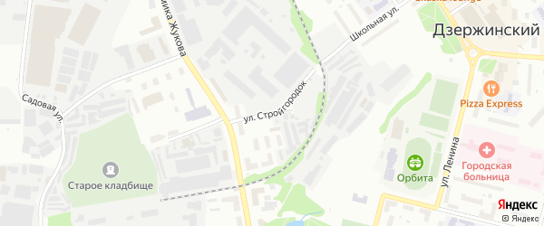 Улица Стройгородок на карте Дзержинского с номерами домов