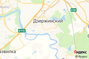Карта г. Дзержинский Московская область