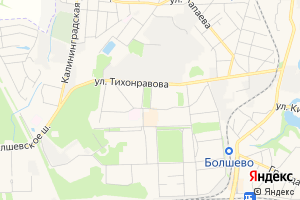 Карта г. Юбилейный Московская область