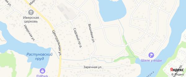 Вишневая улица на карте села Растуново с номерами домов