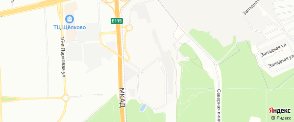 Микрорайон 1 Мая на карте Балашихи с номерами домов