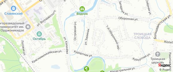 Улица Заимник на карте Старого Оскола с номерами домов