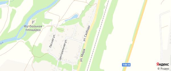 Улица Свободы на карте поселка Пятницкого Белгородской области с номерами домов