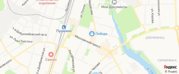 Карта деревни Алешино города Пушкино в Московской области с улицами и номерами домов