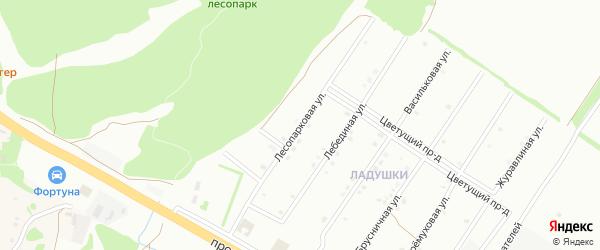 Лесопарковая улица на карте Старого Оскола с номерами домов