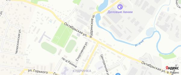 Октябрьская улица на карте микрорайона Мамонтовка с номерами домов