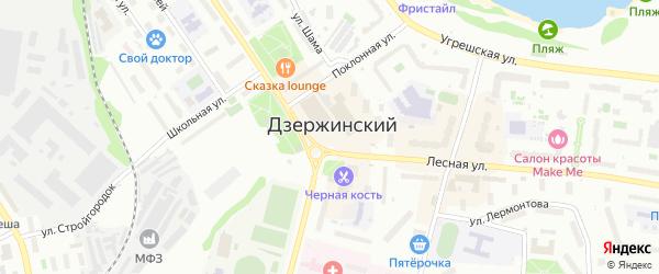 Площадь Дмитрия Донского на карте Дзержинского с номерами домов