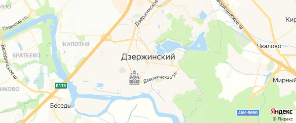Карта Дзержинского с районами, улицами и номерами домов