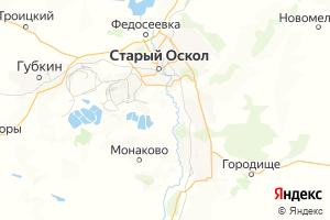 Карта г. Старый Оскол Белгородская область