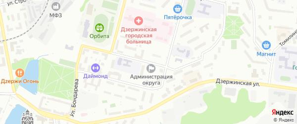 Спортивная улица на карте Дзержинского с номерами домов