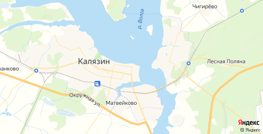 Карта Калязина с улицами и домами подробная. Показать со спутника номера домов онлайн