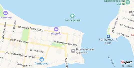 Карта территории ГСК Восход в Калязине с улицами, домами и почтовыми отделениями со спутника онлайн