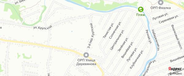 3-й Крупской переулок на карте Старого Оскола с номерами домов