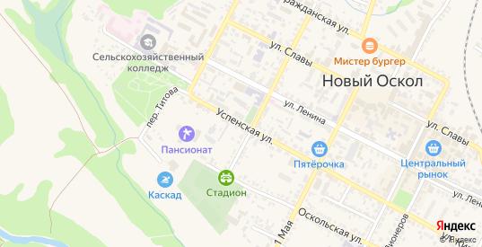 Улица Воровского в Новом Осколе с номерами домов на карте. Спутник и схема онлайн