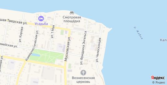 Улица Ф.Энгельса в Калязине с номерами домов на карте. Спутник и схема онлайн