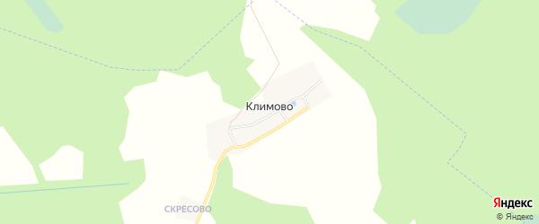 Карта деревни Климово в Московской области с улицами и номерами домов