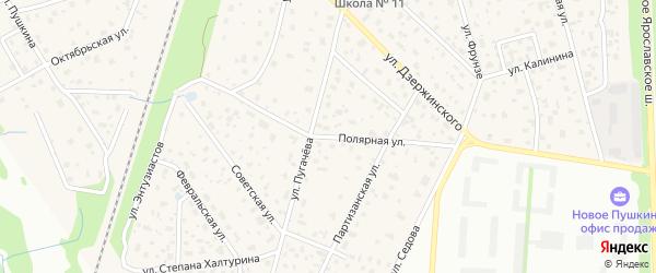 Полярная улица на карте микрорайона Заветов Ильича с номерами домов
