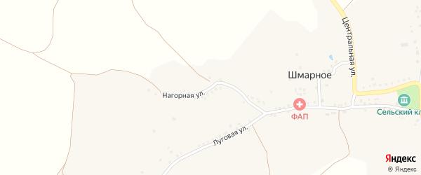 Нагорная улица на карте Шмарного села с номерами домов