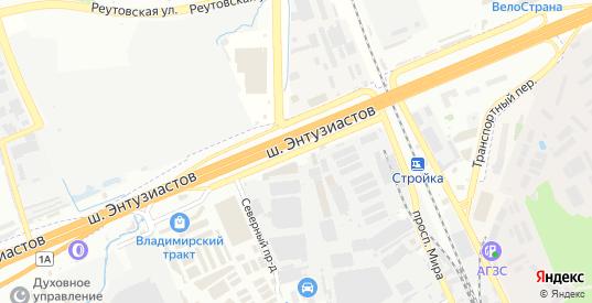 Северный проезд в Реутове с номерами домов на карте. Спутник и схема онлайн