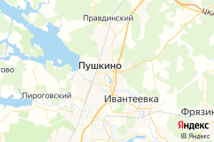 Карта г. Пушкино Московская область