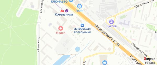 Микрорайон Опытное поле на карте Котельников с номерами домов