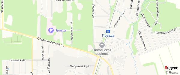 ГСК Позит на карте Правдинского поселка с номерами домов